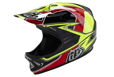 casque integral troy lee designs d2 sonar 2016 jaune noir rouge
