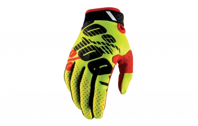 gants longs 100 ridefit jaune