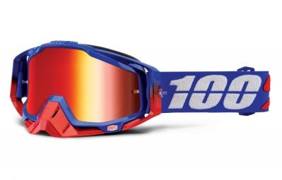 100 masque racecraft republic bleu ecran mirror rouge