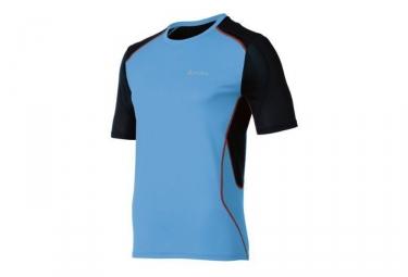 odlo maillot running manches courtes chip bleu noir