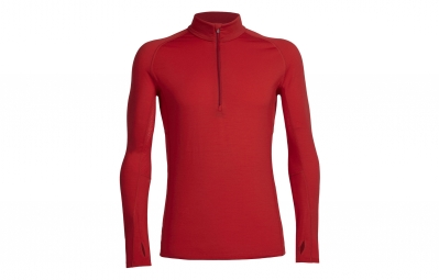 maillot manche longues icebreaker zone rouge