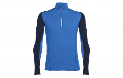 maillot manche longues icebreaker factor bleu