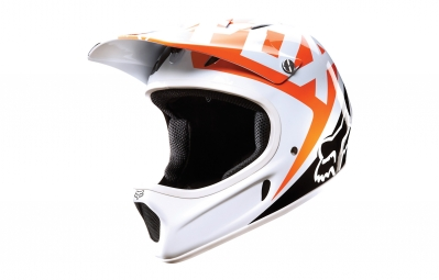 casque fox rampage race orange