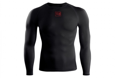 maillot manches longues compressport thermo 3d ultralight noir