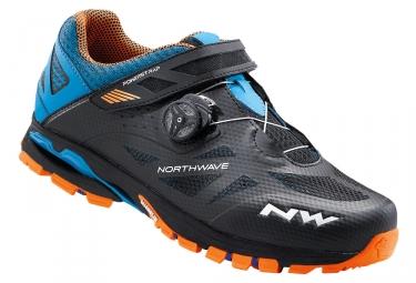 paire de chaussures vtt northwave spider plus 2 noir orange