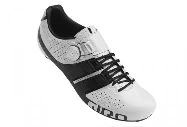 paire de chaussure route giro factor techlace blanc noir