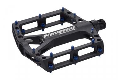 pedales plates reverse black one noir bleu