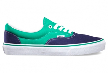 vans paire de chaussures era bleu vert