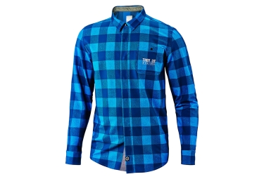 chemise troy lee designs grind flannel bleu