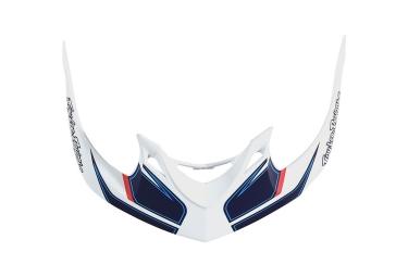 visiere troy lee designs a1 reflex blanc bleu
