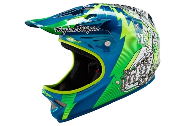 casque integral troy lee designs d2 invade vert