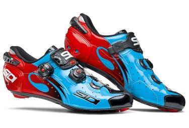 chaussures route sidi wire 2017 bleu noir rouge