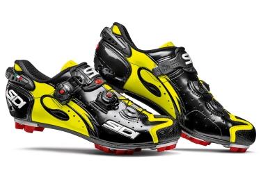 chaussures vtt sidi drako carbon srs noir jaune