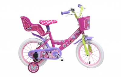velo enfant denver minnie 14 rose