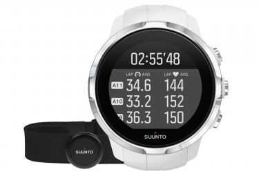 suunto montre gps spartan sport hr blanc ceinture smart sensor