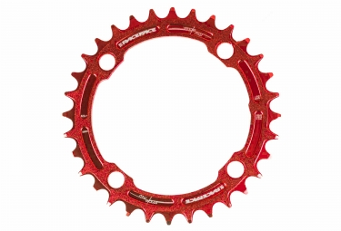race face mono plateau narrow wide 104mm rouge