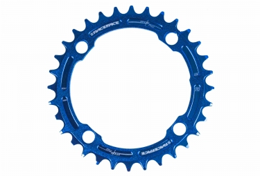 race face mono plateau narrow wide 104mm bleu