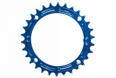 race face mono plateau narrow wide 104 mm bleu taraude