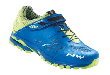 chaussures vtt northwave spider 2 bleu jaune