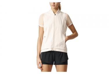 adidas running veste coupe vent impermeable femme ultra energy beige