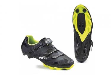 chaussures vtt northwave scorpius 2 srs noir jaune fluo