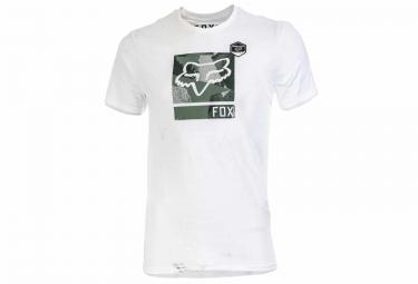 produit reconditionne fox t shirt grisler blanc s