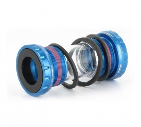 first boitier pour truvativ roulements externes bleu 68mm 73mm