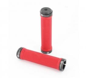 gusset paire de grips rouge lock on noir
