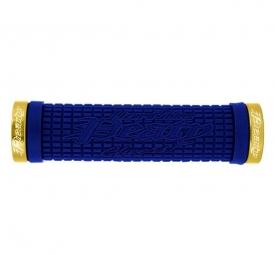 lizard skins paire de grips peaty bleu lock on or