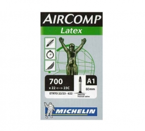 michelin chambre a air latex a1 700 x 18 23 valve 60 mm