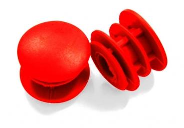msc embouts de guidon gomme rouge x 2