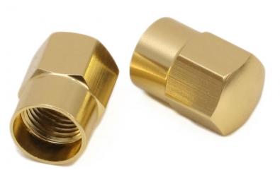msc bouchons de valve schrader grosse valve or la paire