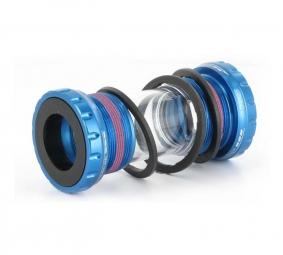 first boitier pour shimano fsa race face roulements externes bleu 68mm 73mm