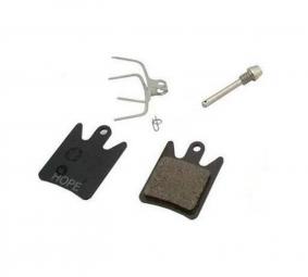hope paire de plaquettes race x2 tech x2 standard metalliques