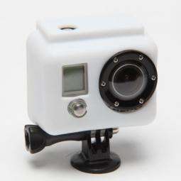 xsories etui de protection silicon blanc pour camera gopro hero et hero 2