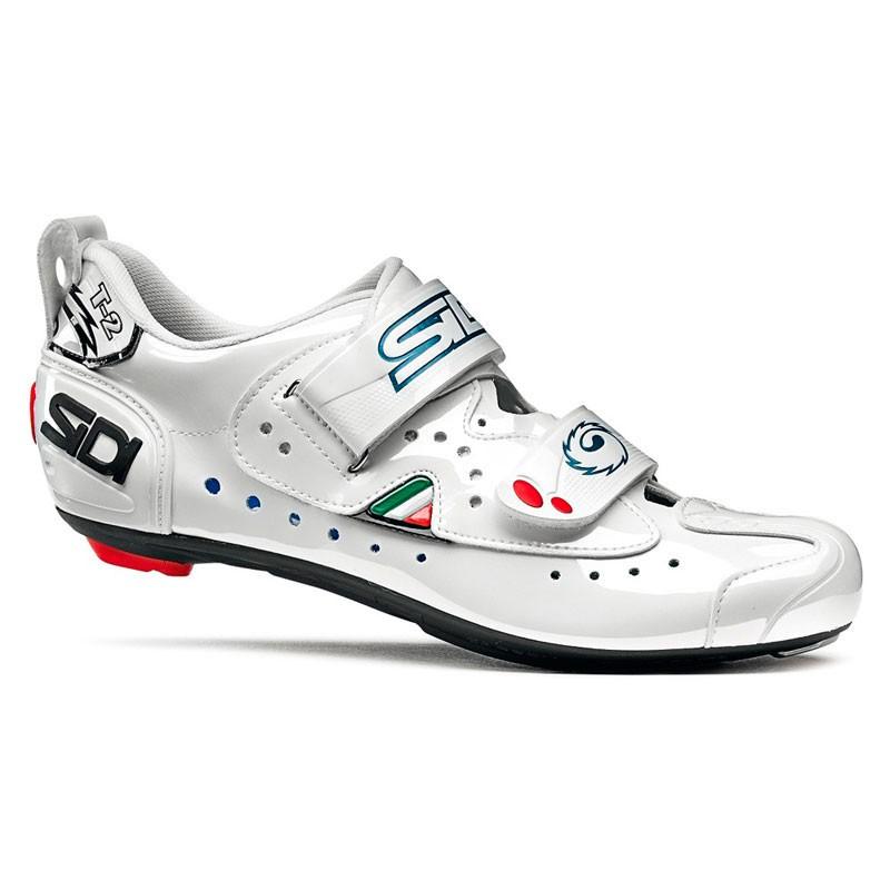 sidi paire de chaussures triathlon t2 carbon blanc. Black Bedroom Furniture Sets. Home Design Ideas