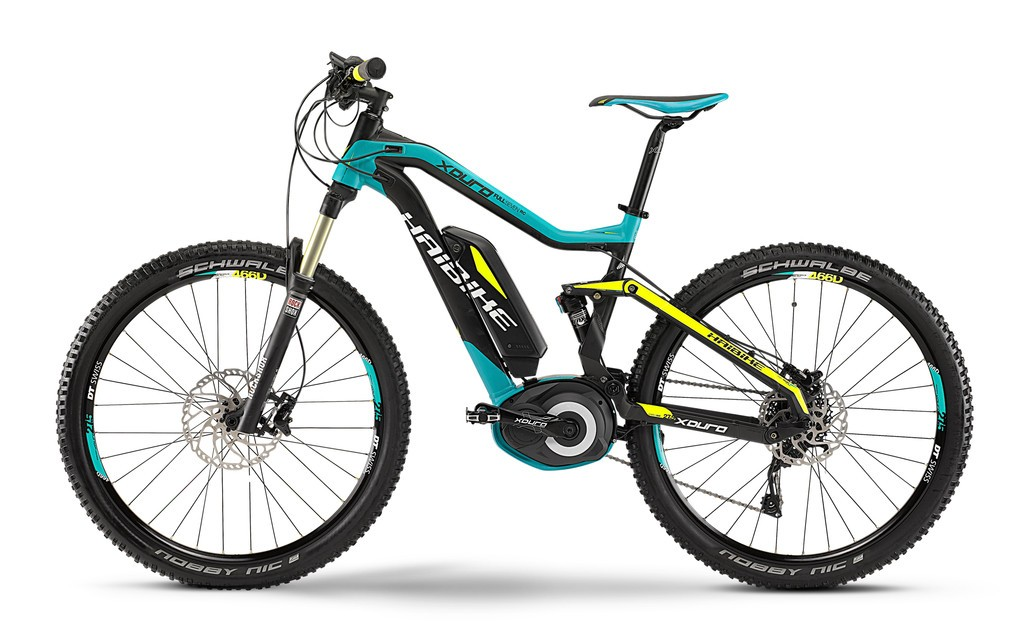vtt lectrique haibike xduro fullseven rc 27 5 10v 400wh 2015 turquoise jaune noir. Black Bedroom Furniture Sets. Home Design Ideas