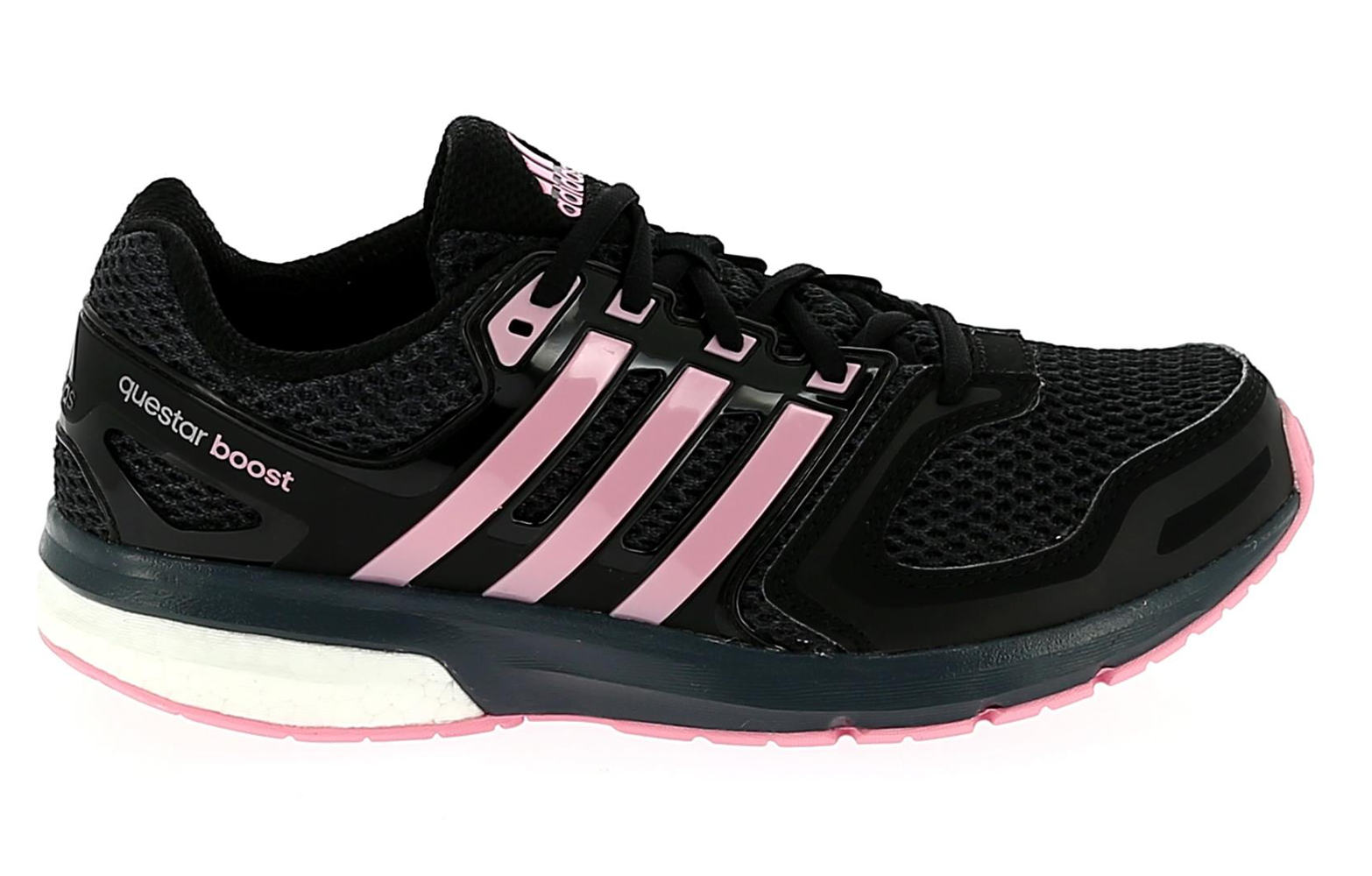 adidas questar boost womens running shoes black pink. Black Bedroom Furniture Sets. Home Design Ideas