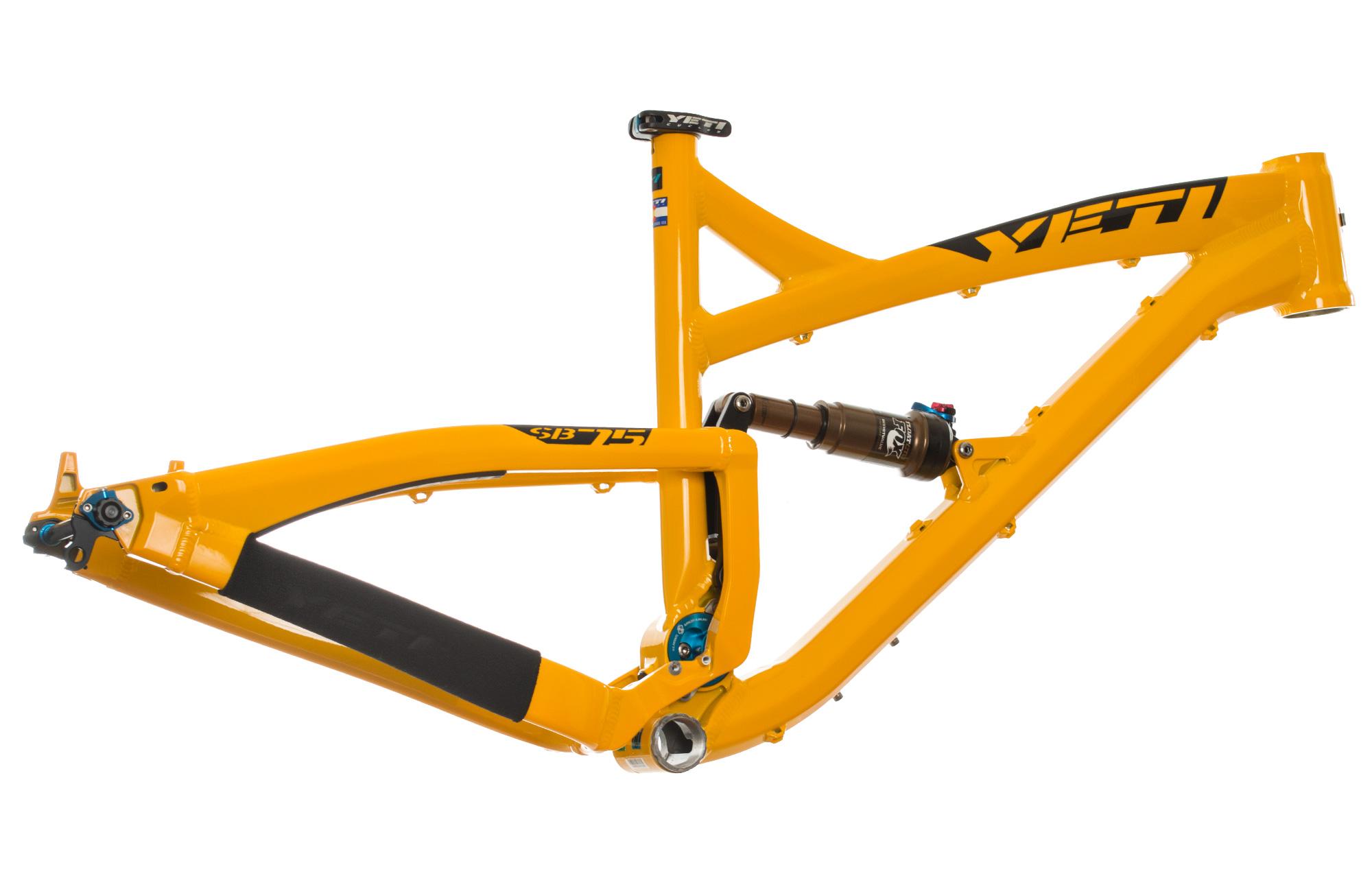yeti 2014 frame sb75 alu rear shock fox ctd 27 5 39 39 yellow alltricks. Black Bedroom Furniture Sets. Home Design Ideas