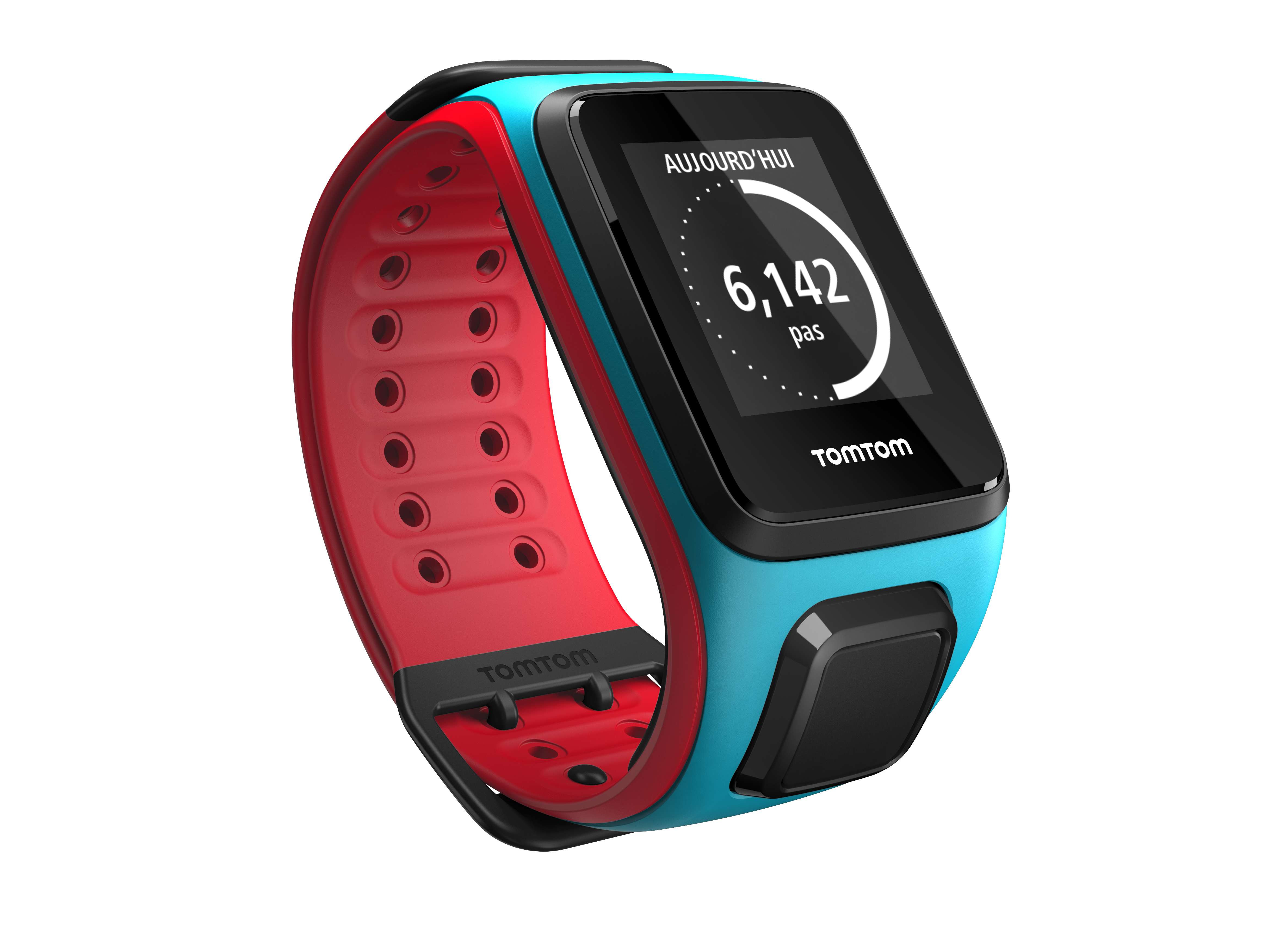 montre gps tomtom runner 2 cardio bleu rouge. Black Bedroom Furniture Sets. Home Design Ideas