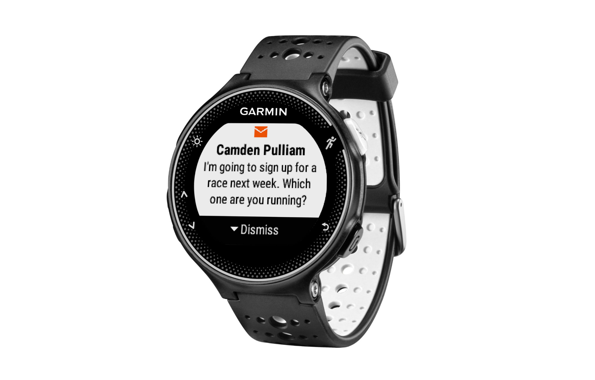 montre gps garmin forerunner 230 hrm blanc noir. Black Bedroom Furniture Sets. Home Design Ideas