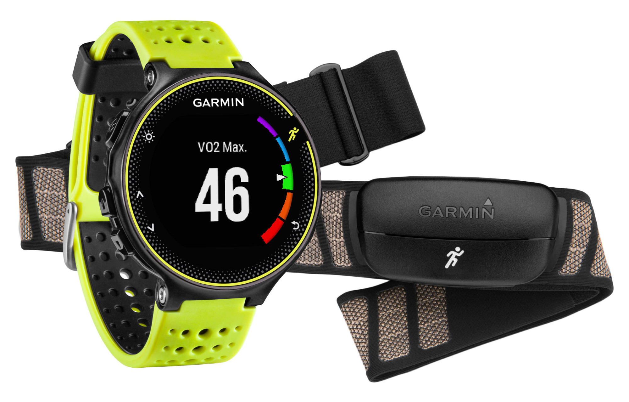 montre gps garmin forerunner 230 hrm noir jaune. Black Bedroom Furniture Sets. Home Design Ideas