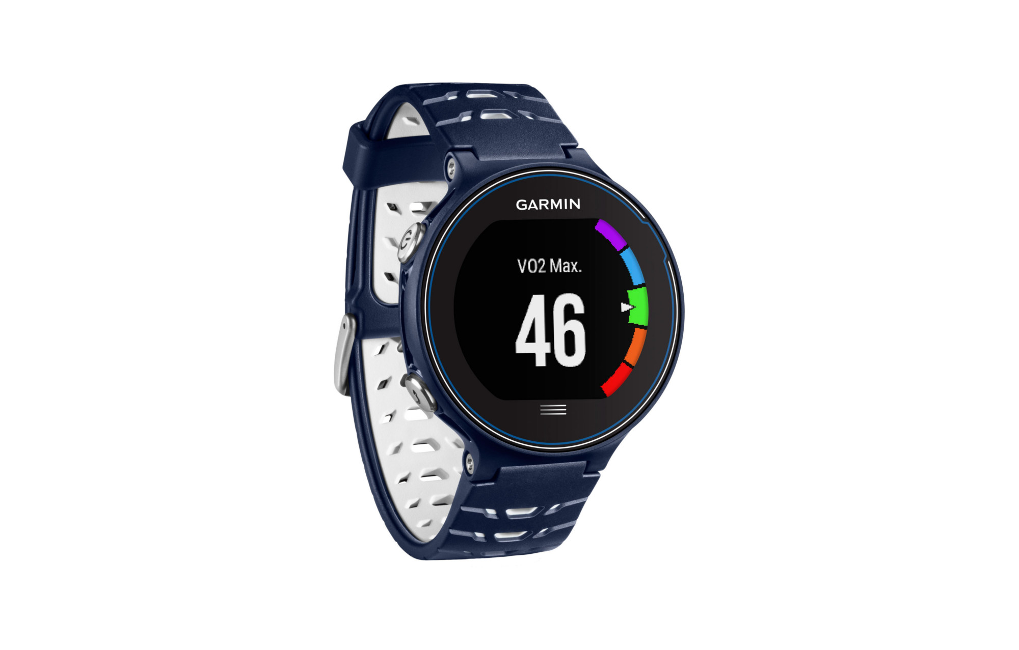 montre gps garmin forerunner 630 hrm run blanc bleu. Black Bedroom Furniture Sets. Home Design Ideas