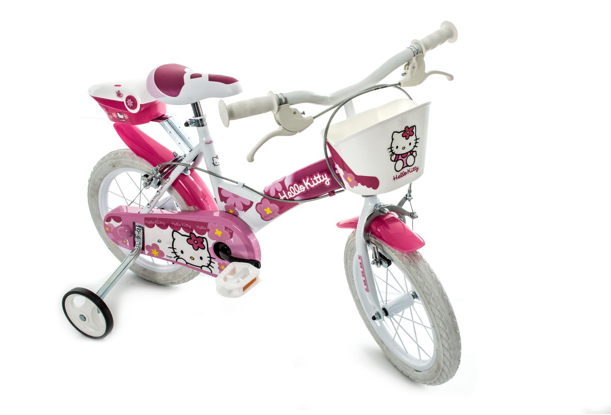 dino bikes girl bike 16 hello kitty pink white. Black Bedroom Furniture Sets. Home Design Ideas