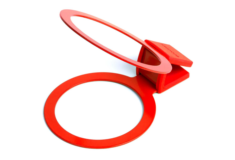 Bookman porte gobelet sur cintre cup holder rouge for Porte cintre sur pied