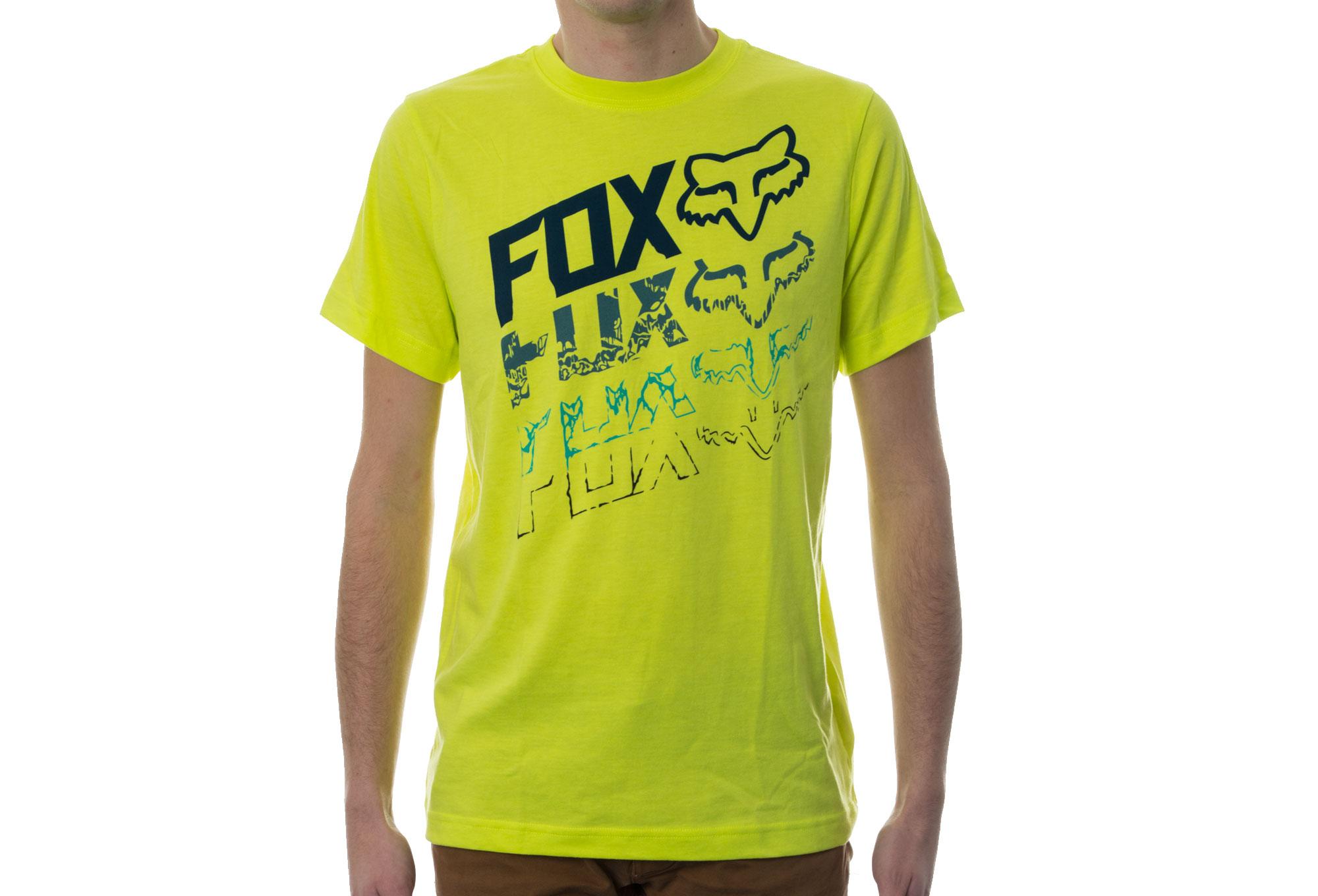 fox t shirt enfant hunger jaune fluo. Black Bedroom Furniture Sets. Home Design Ideas