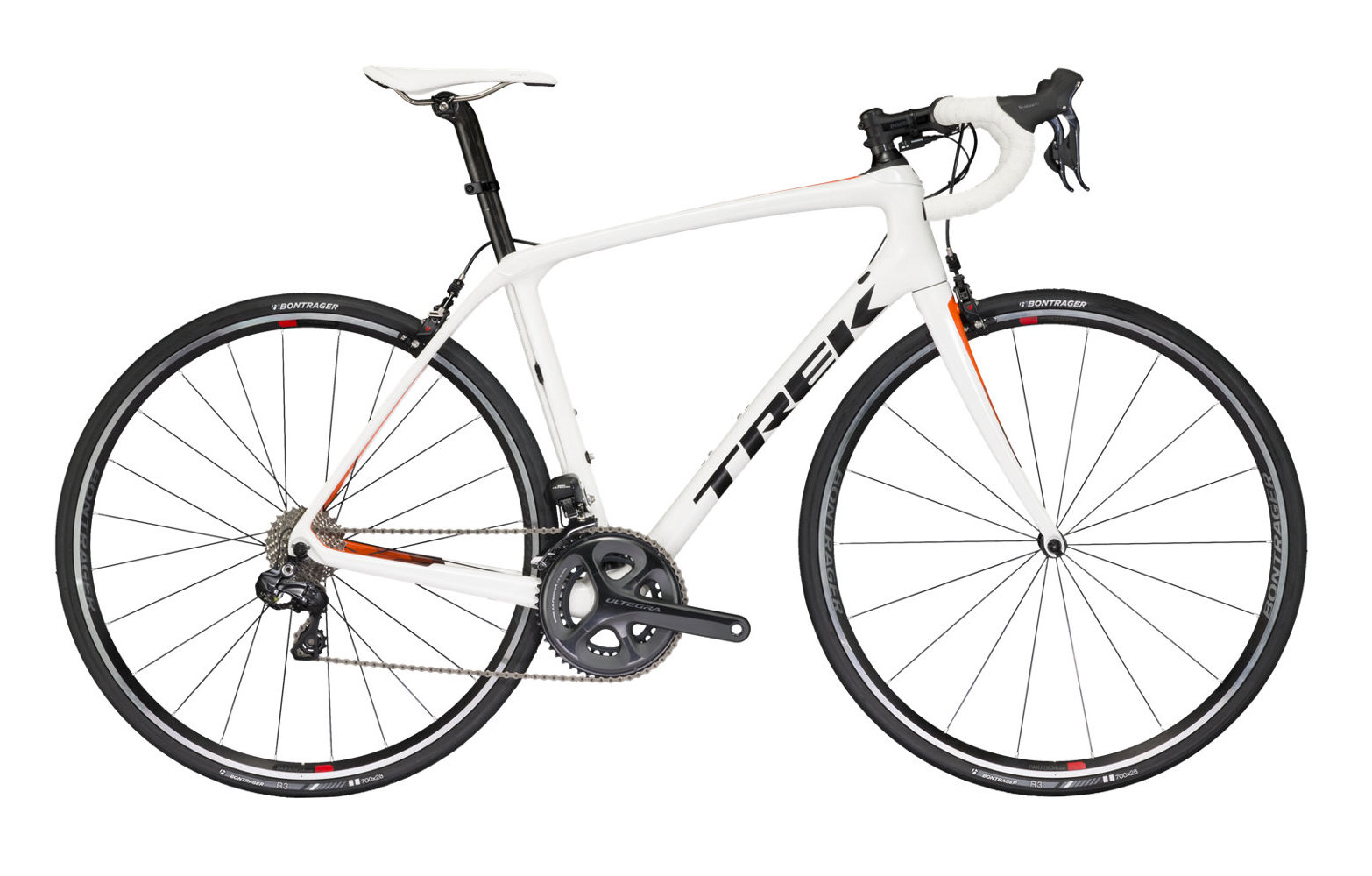 TREK 2017 Road Bike DOMANE SLR 7 - Crystal White/Roaran ...