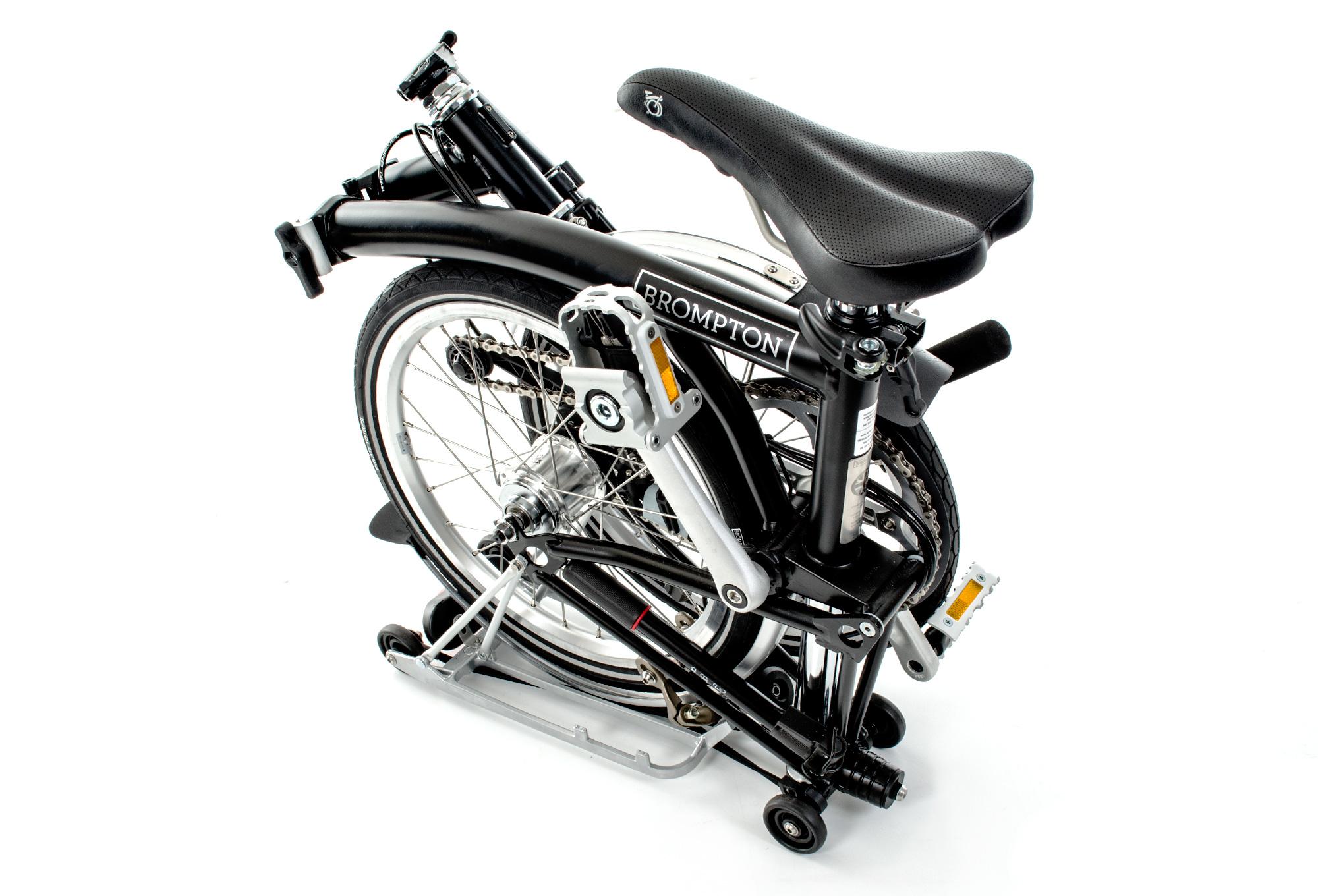 BROMPTON M6R Folding Bike, 6 Speed, Black Alltricks.fr