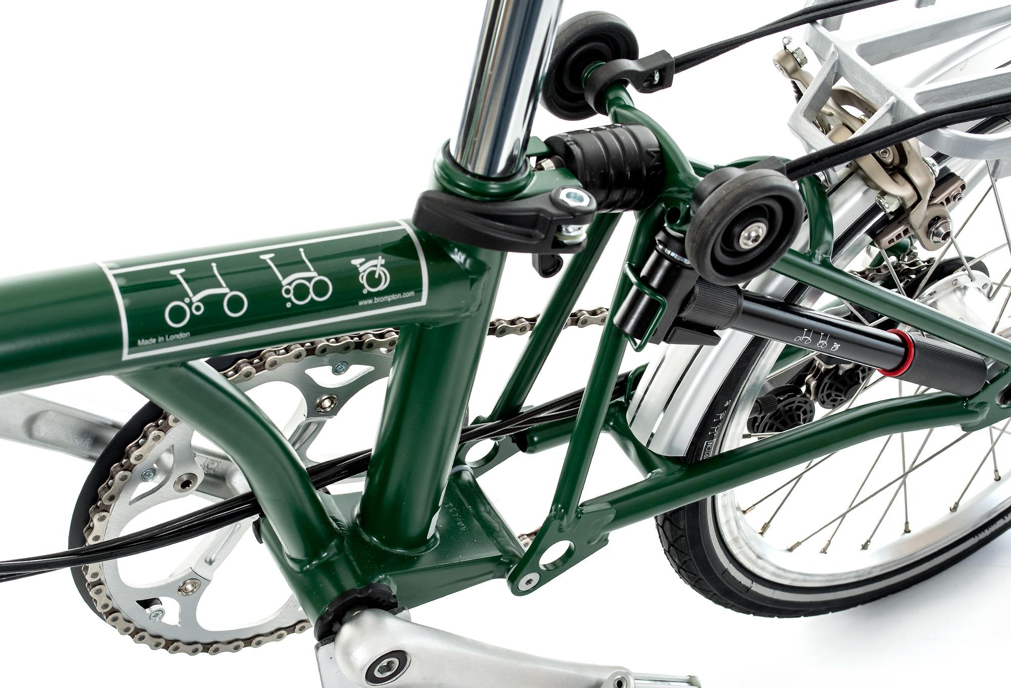 BROMPTON M6R Folding Bike, 6 Speed, Green Alltricks.fr