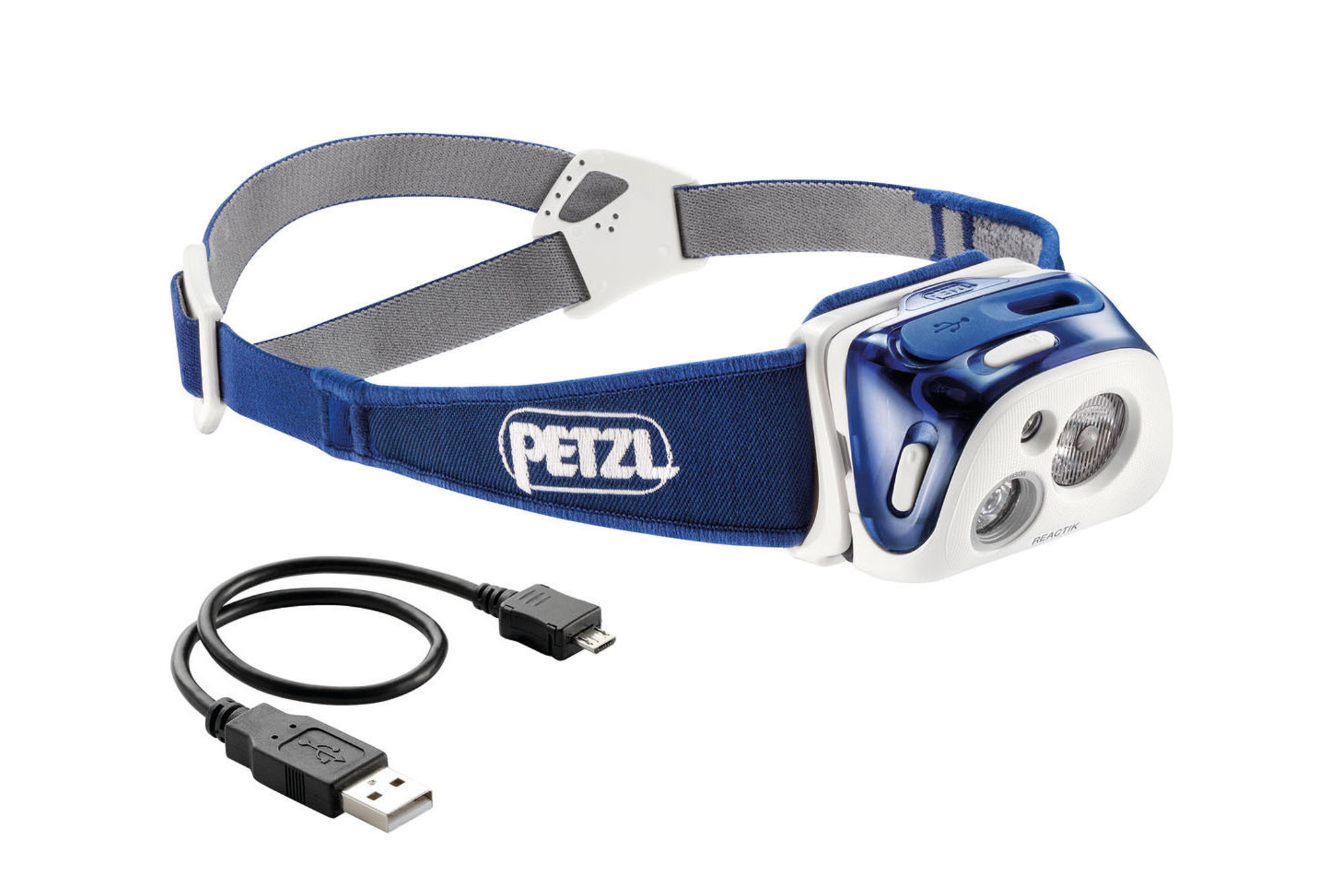 lampe frontale petzl reactik bleu. Black Bedroom Furniture Sets. Home Design Ideas